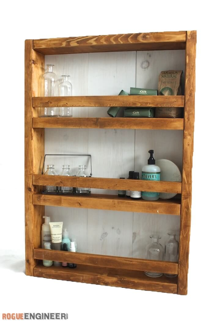 Apothecary DIY Wall Shelf Plans - Rogue Engineer 2