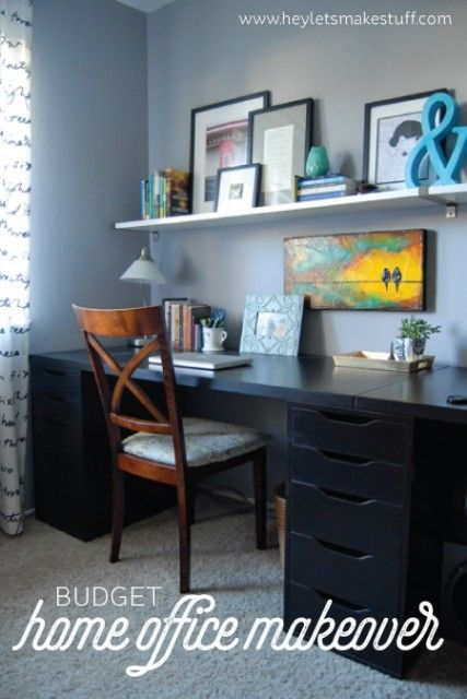 Beautiful Real-Life Renovation Home Office Makeover