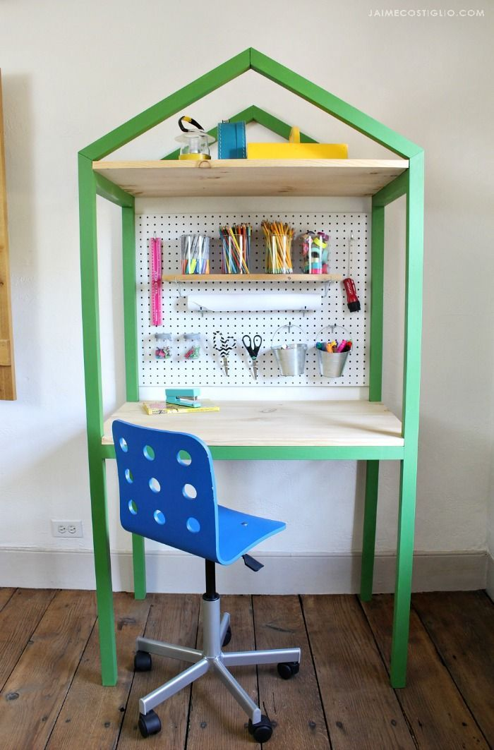 Build a modern house shaped desk perfect for kids and adults. It's Week 3 of...
