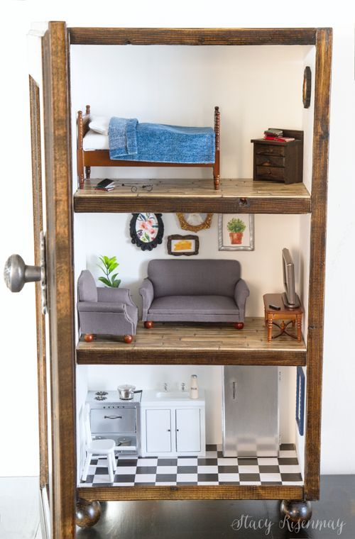 Cabinet Dollhouse | Stacy Risenmay #IKEAmouse #ikeamousehouse #mousehouse #toymo...