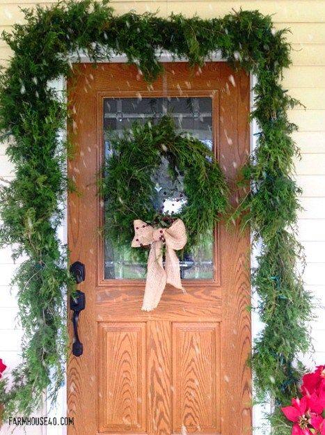 Create your own Fresh Cedar Garland. Its easier than you think. Looks so beautif...