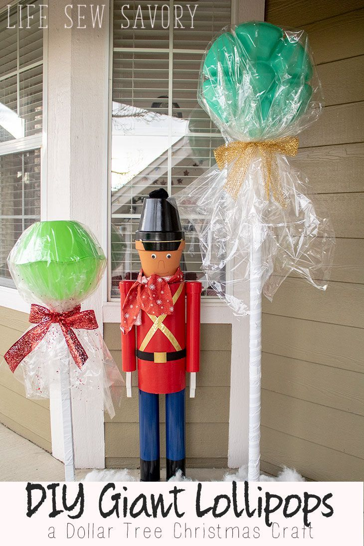Diy Furniture Diy Giant Lollipops Dollar Tree Christmas Craft From