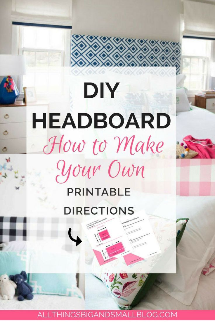 DIY Headboard   make your own headboard with these easy step-by-step instruction...