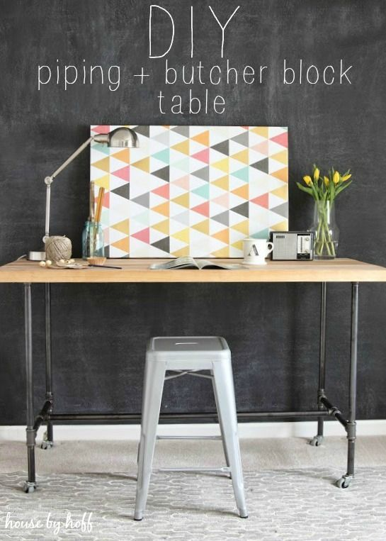 DIY Piping Table via House by Hoff