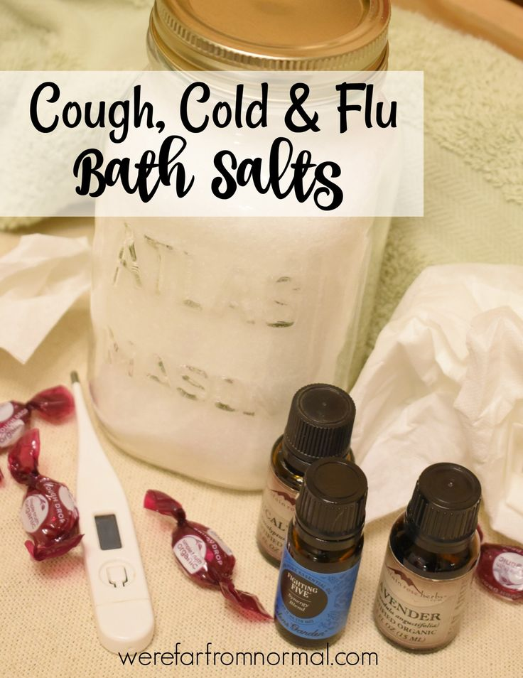 Don't let a cold or the flu get you down! These bath salts made with essential o...