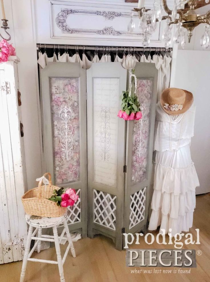 Farmhouse Romantic Chic Bedroom with Roses by Larissa of Prodigal Pieces   prodi...