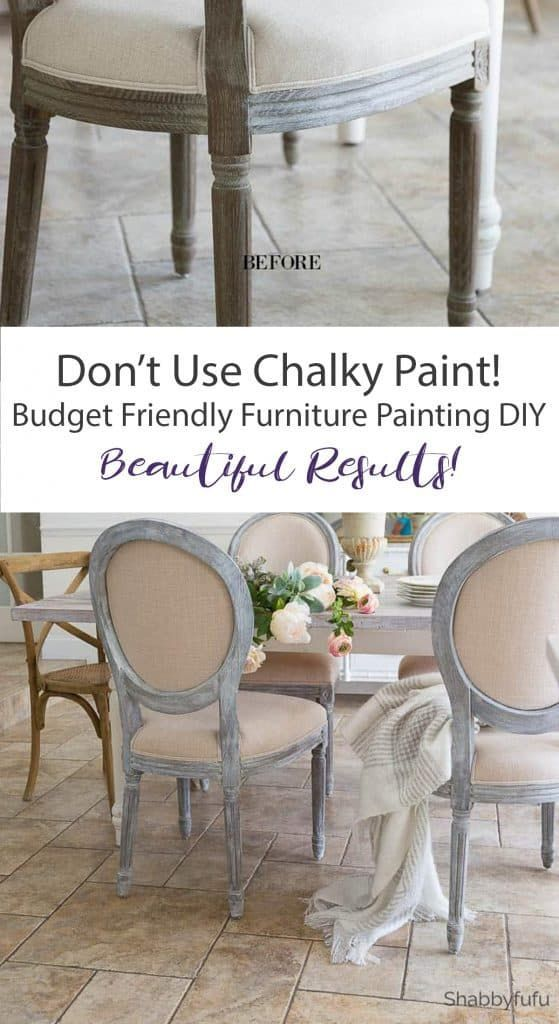 Find the secrets for giving furniture a chalk painted finish on a budget, withou...