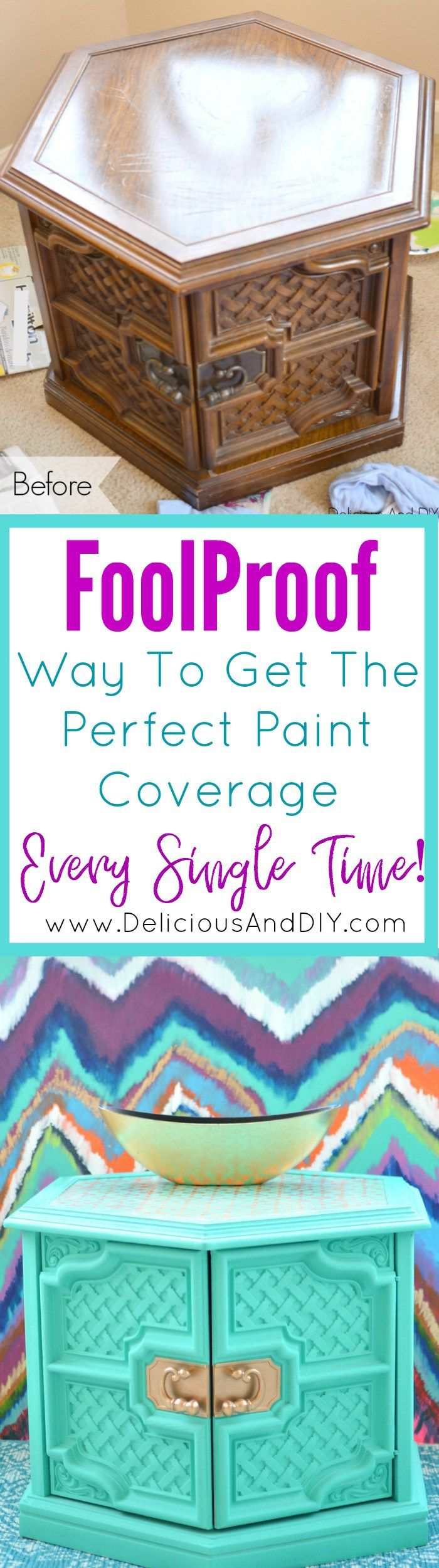 Foolprrof Way to Get the Perfect Paint Coverage Every Single Time  Painting How ...