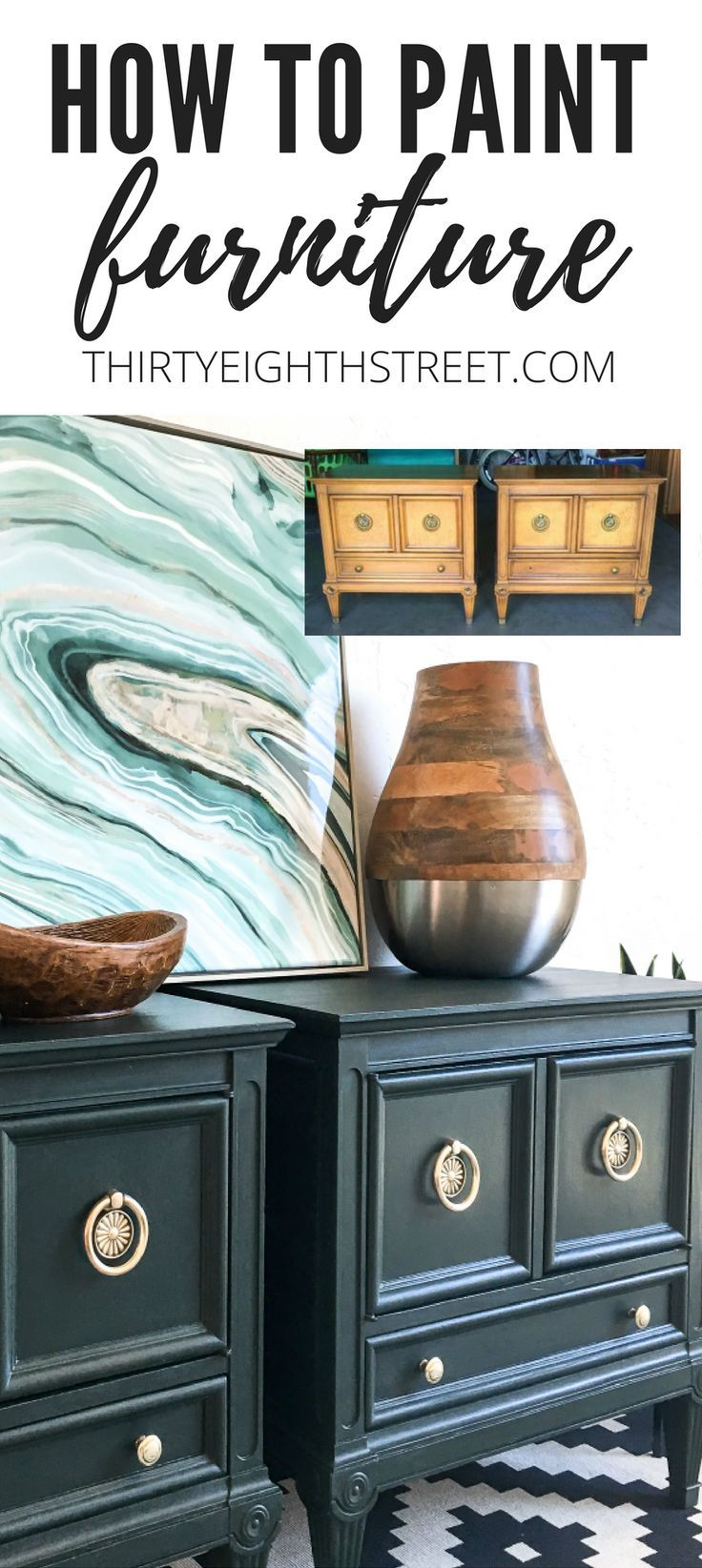 How To Paint Furniture With Pure & Original Paint. Refinishing Furniture Tips an...