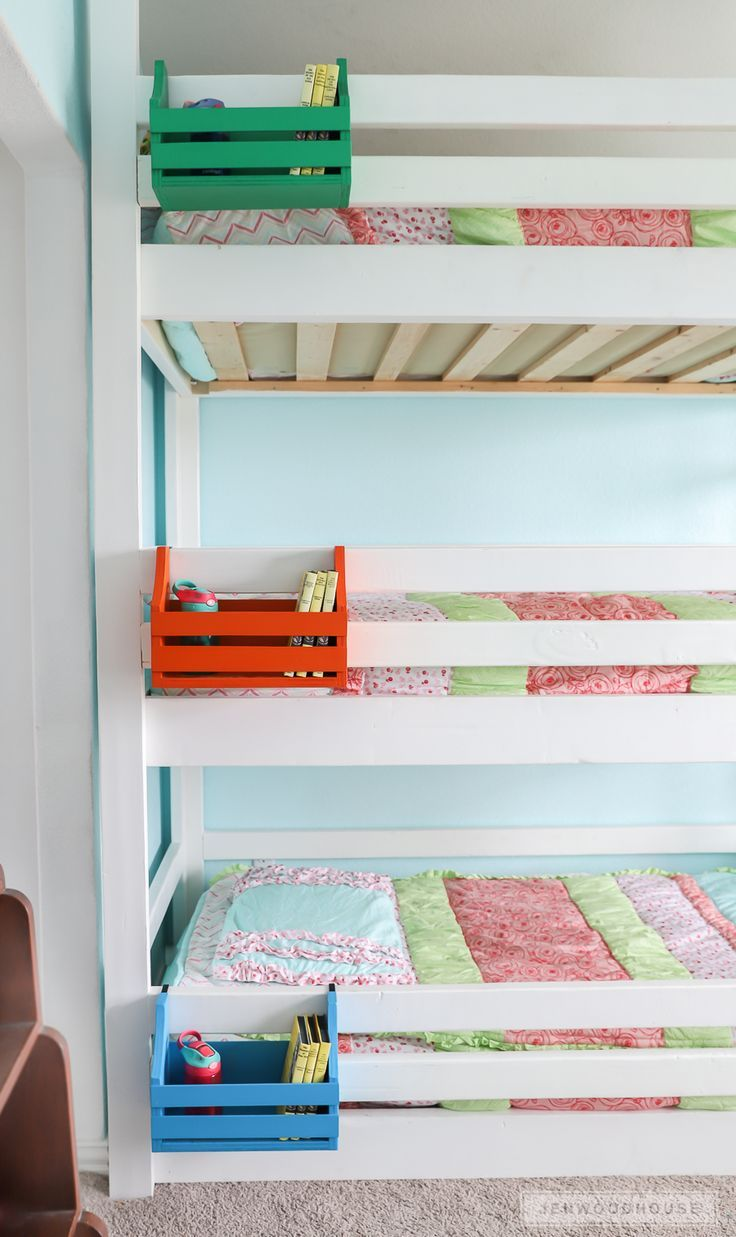 How to build DIY bunk bed nightstands