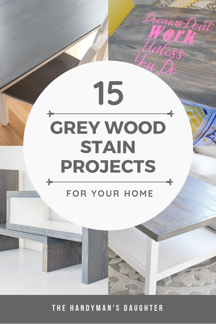 It's hard to figure out what your grey wood stain projects will look like from t...