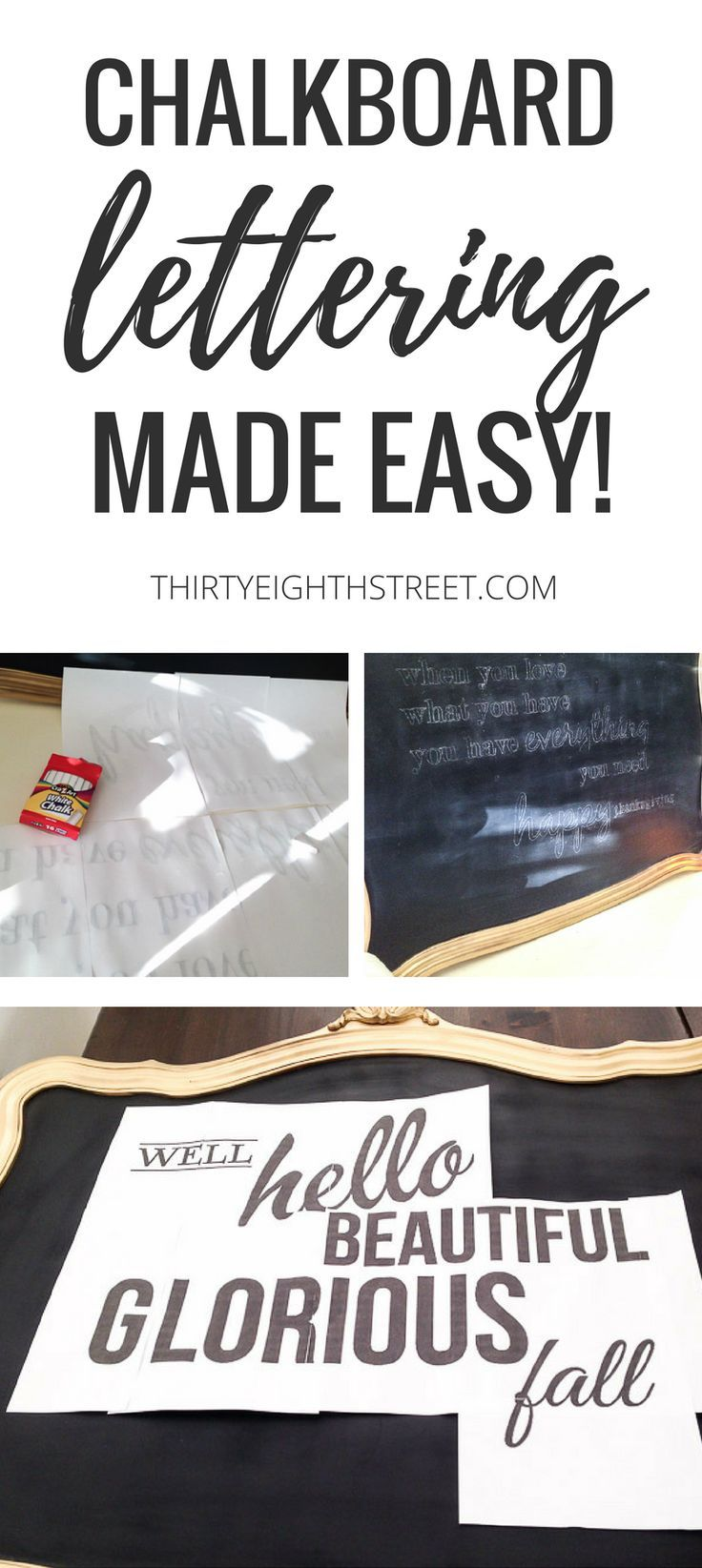 Learn how to hand letter like a pro! Easy way to create chalk board lettering on...