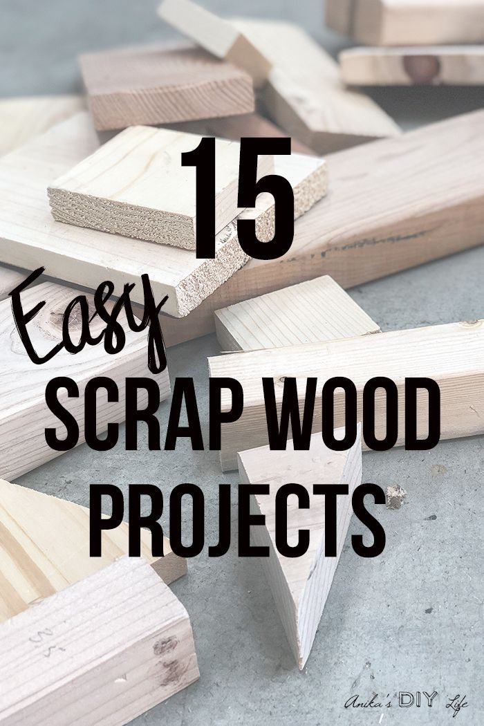 Love these! Easy scrap wood projects and ideas! So many great ideas. make home d...