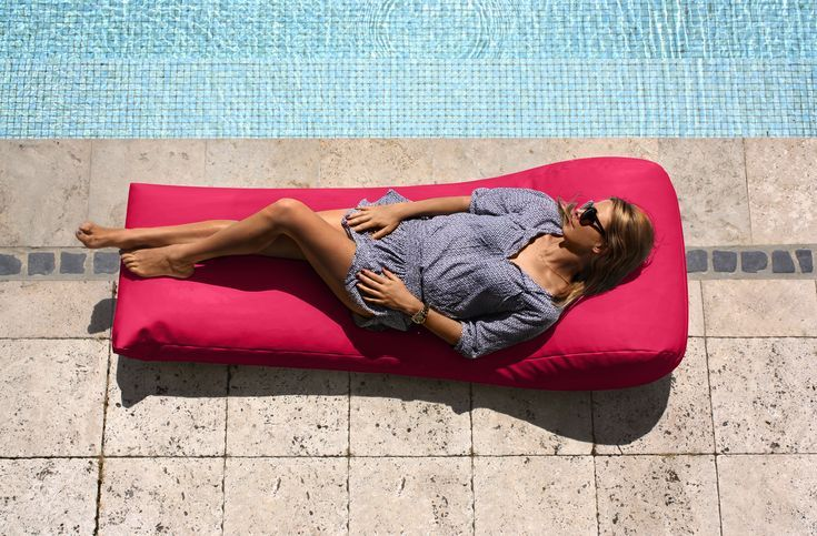 Single Lounger Day Bed. Bean bag you can use instead of a deck chair. Made for t...