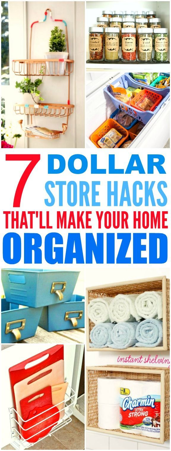 These 7 Dollar Store hacks from the experts are THE BEST! I'm so happy I found t...