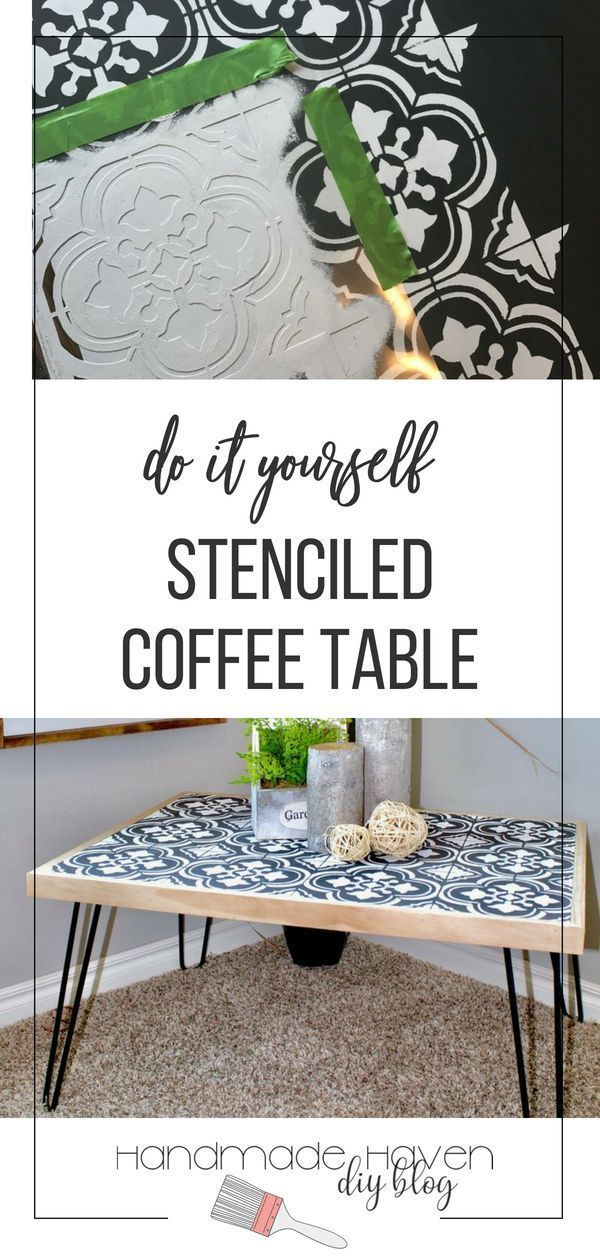 This stenciled DIY table project was so easy and fun to create! It is also such ...