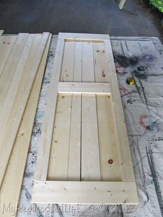 how to  make your own barn doors to hang with Tractor Supply Hardware MyRepurpos...