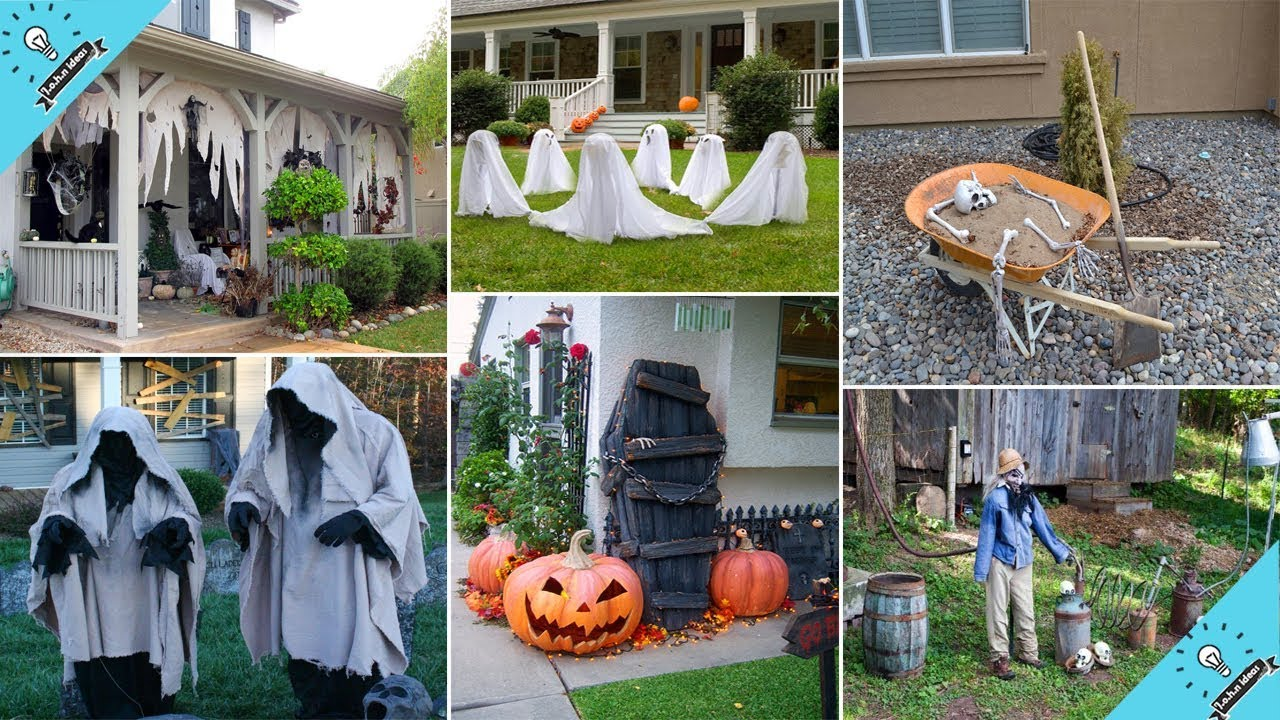 Diy Projects Video 100 Cheap And Easy Outdoor Halloween Decor Diy Ideas Garden Ideas Diyall Net Home Of Diy Craft Ideas Inspiration Diy Projects Craft Ideas How
