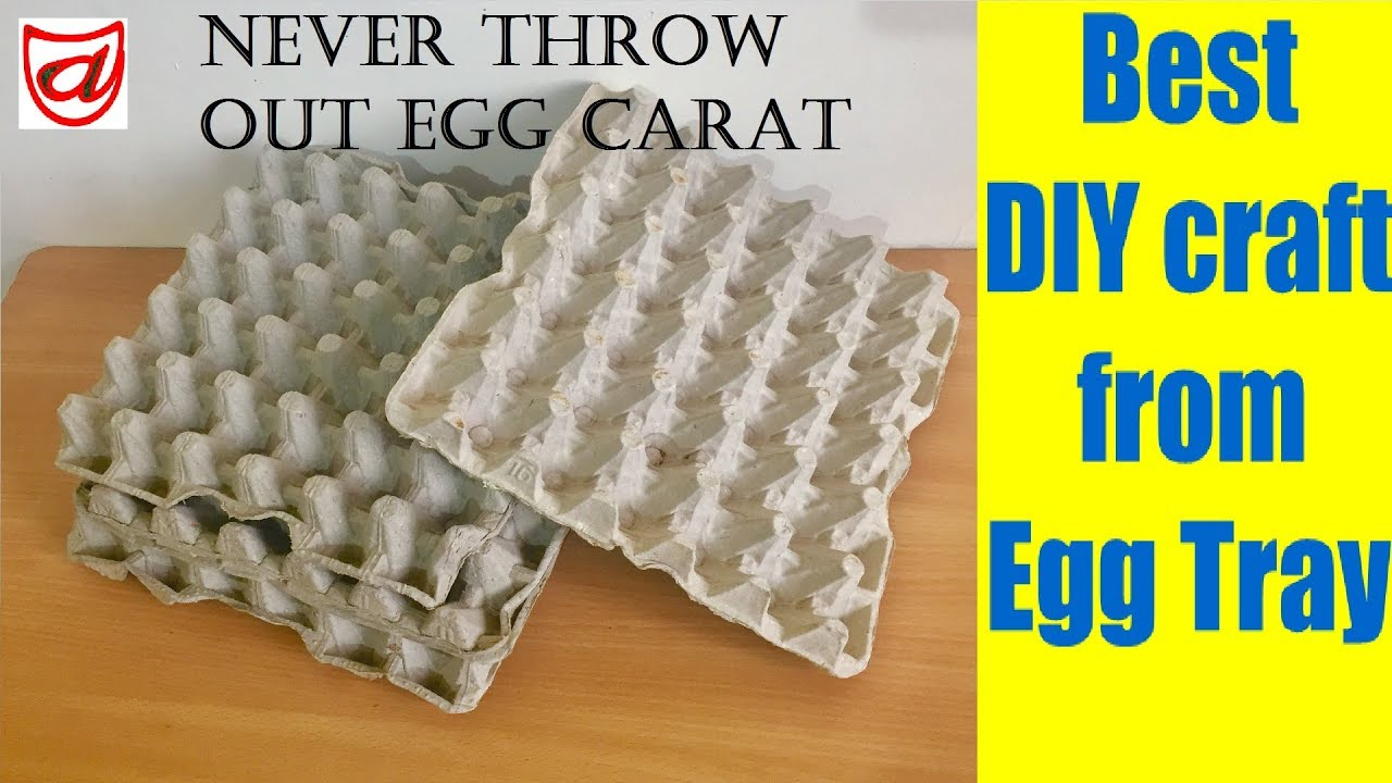 Diy Projects Video Best Diy Craft From Waste Egg Tray Home Decor