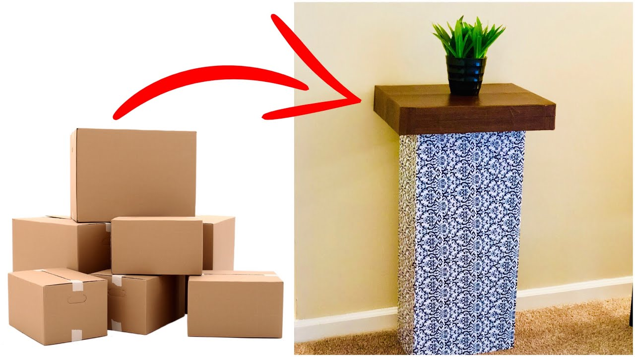 DIY Projects Video: CARDBOARD CRAFTS EASY / BEST OUT OF WASTE