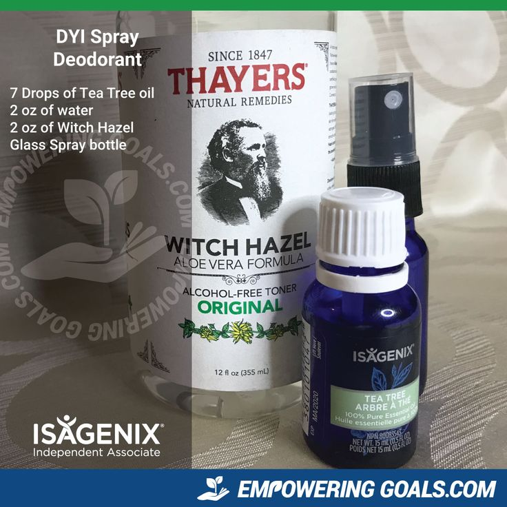 Diy Skin Care Tips Homemade Spray Deodorant By Using Tea Tree Oil