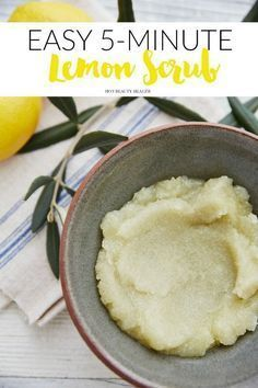 A 5-minute diy lemon sugar scrub that is so easy to make. Use on the face and/or...