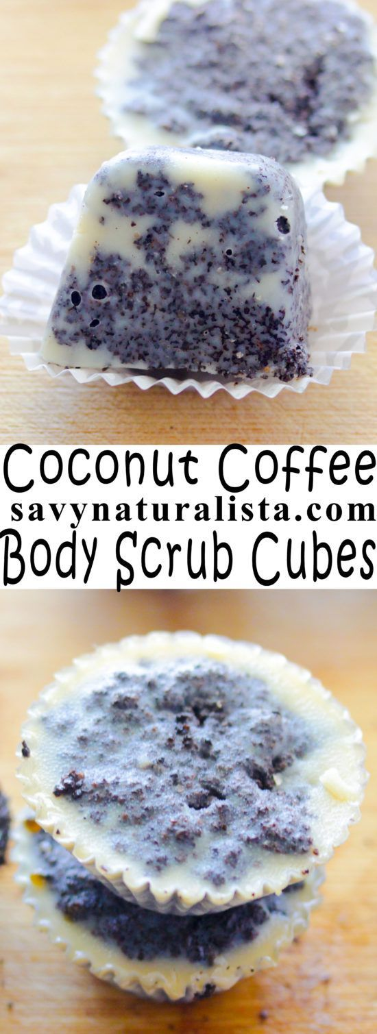 Body scrub cubes that use coffee grounds; a great way to scrub the body and add ...