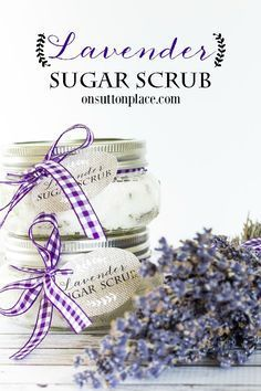 DIY Lavender Sugar Scrub | The perfect, 4 ingredient answer to dry hands and fee...