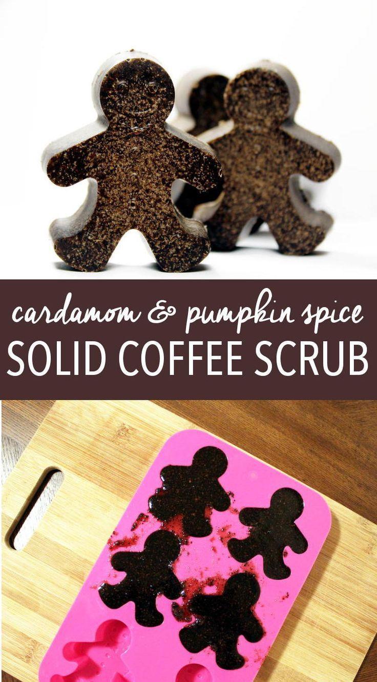 DIY Pumpkin Spice Coffee Scrub Recipe for DIY Holiday Gifts! This DIY cardamom a...