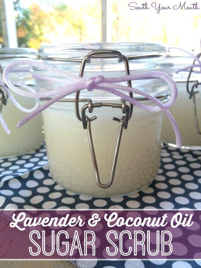 DIY Sugar Scrub! Make this simple hand scrub for yourself or to give away for gi...