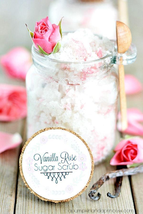 DIY Vanilla Rose Sugar Scrub