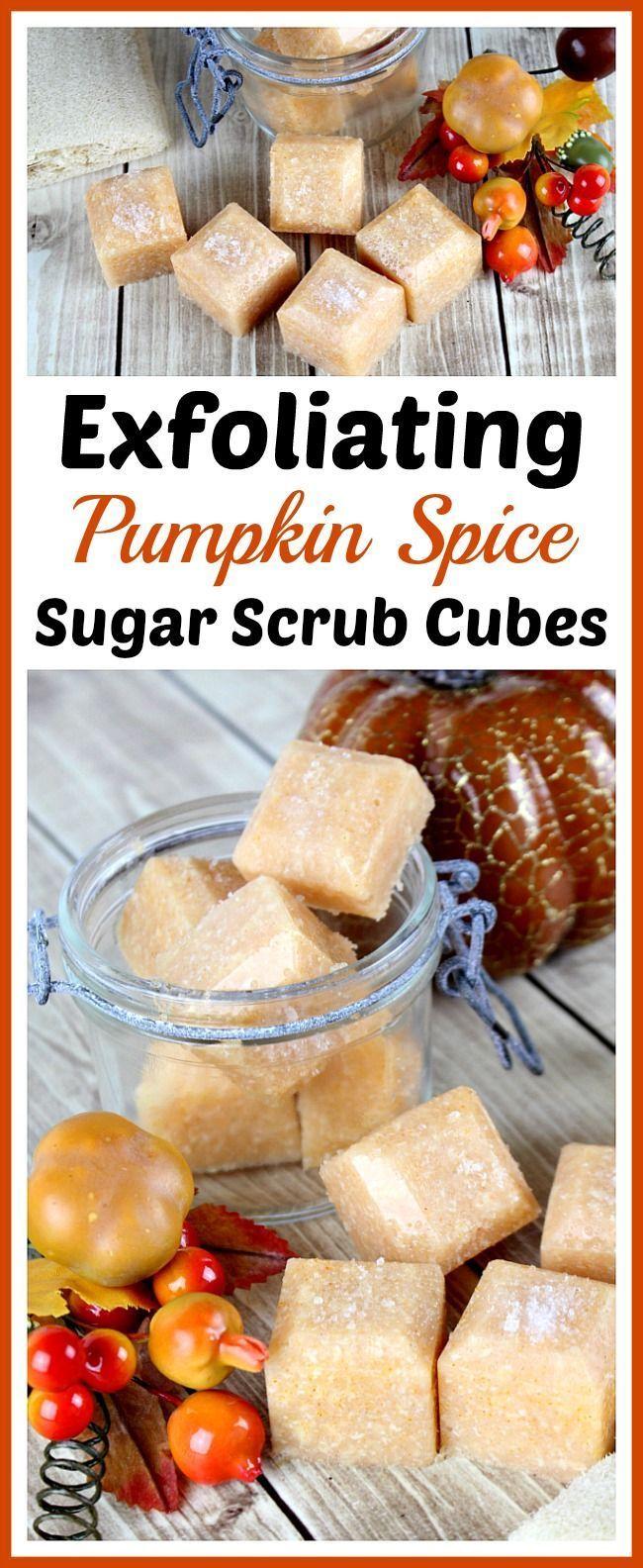 Exfoliating Pumpkin Spice Sugar Scrub Cubes- These exfoliating pumpkin spice sug...