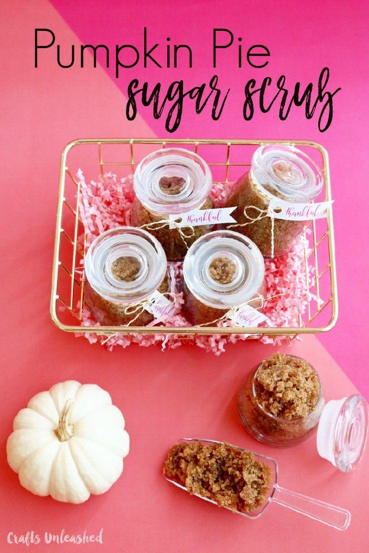 Make your own yummy pumpkin pie DIY sugar scrub with our easy recipe. It's a...