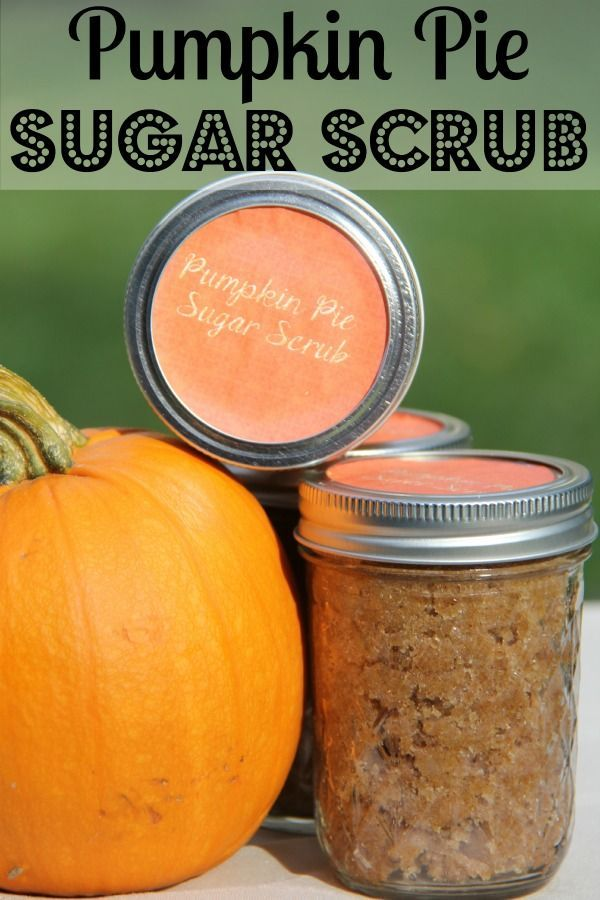 No need to spend the day at the spa. Try this DIY pumpkin pie sugar scrub. Made ...