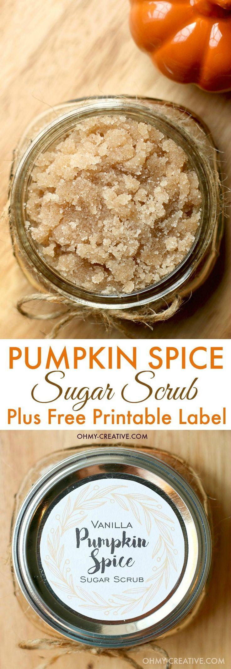 The aroma of this all natural Vanilla Pumpkin Spice Sugar Scrub is simply amazin...