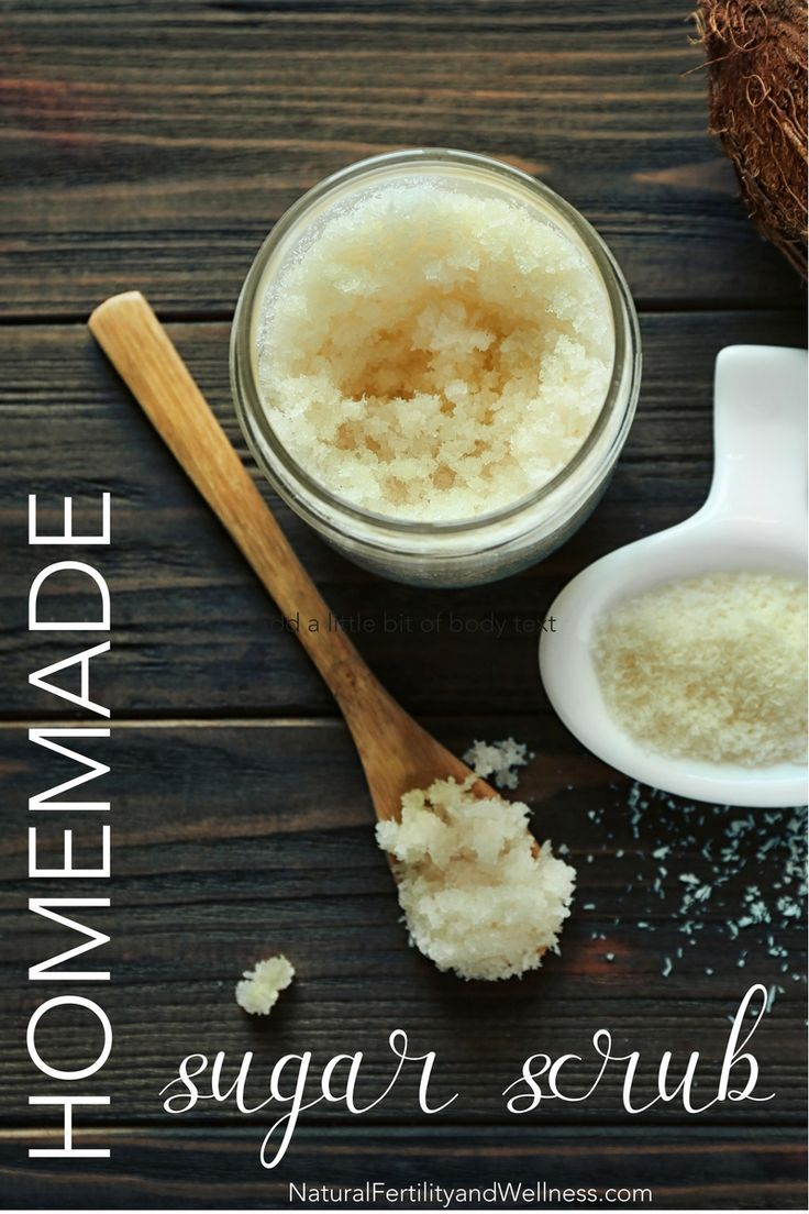 Try this simple homemade sugar scrub recipe - take care of yourself and your ski...