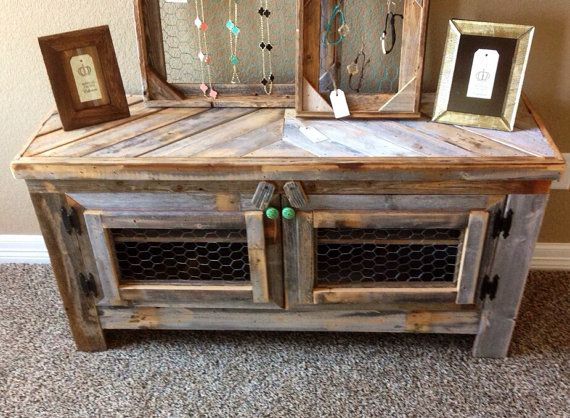Barn wood style TV stand reclaimed wood & by RestorationCrown, $165.00