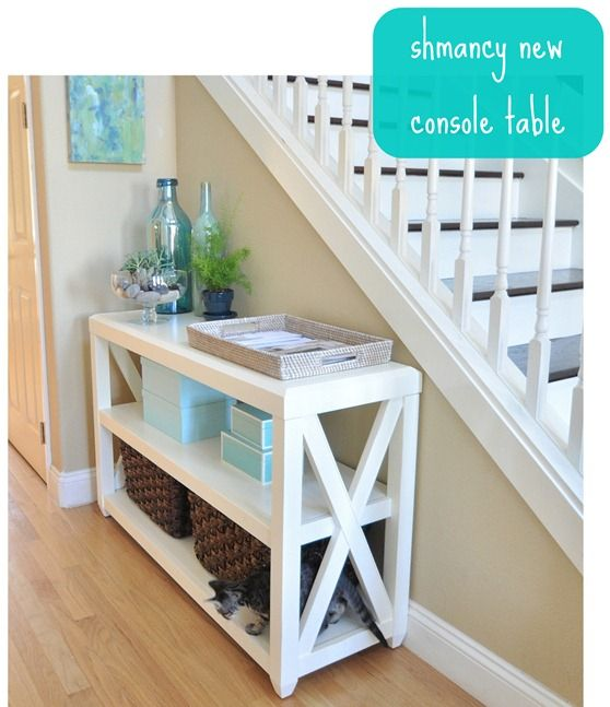 DIY Console Table This website also include plans to make other types of furnitu...