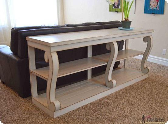 DIY Furniture   Build a $1,895 scroll leg console table from Restoration Hardwar...
