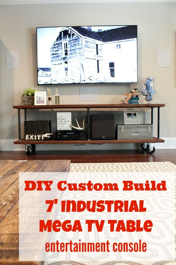 How to create a custom tv console easy DIY instructions included at RefreshResty...