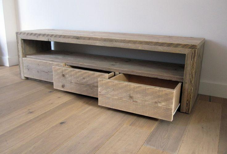 TV meubel 'Vittali'   Steigerhout   Te koop bij w00tdesign   by w00tdesi...