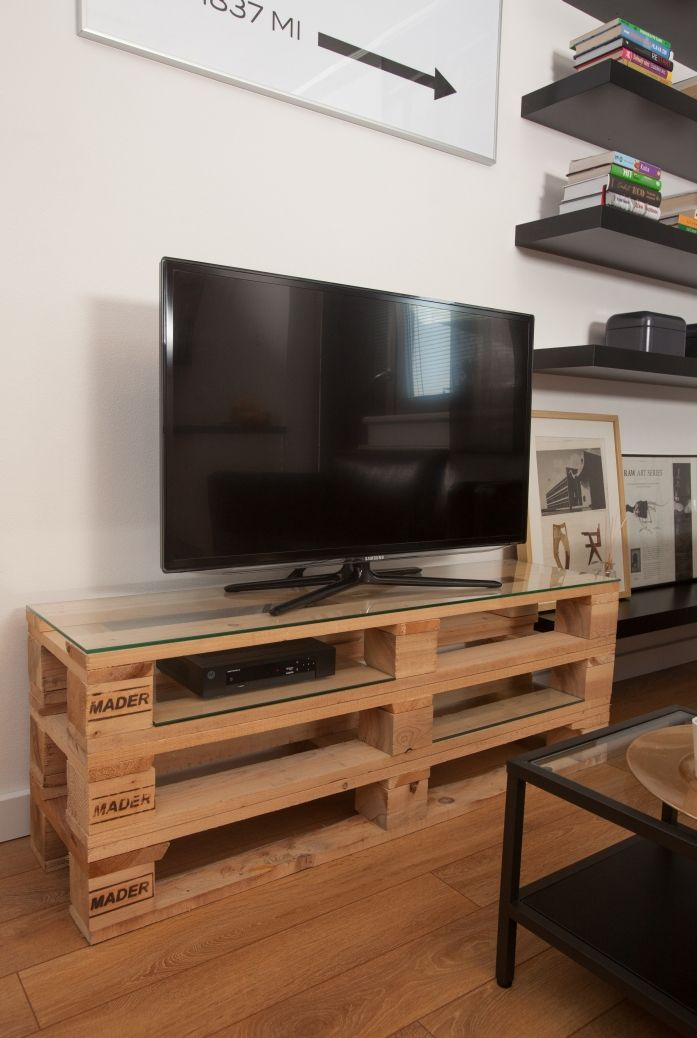 Iets Nieuws DIY TV stand Ideas : pallet tv stand - DIYall.net | Home of DIY #IB67