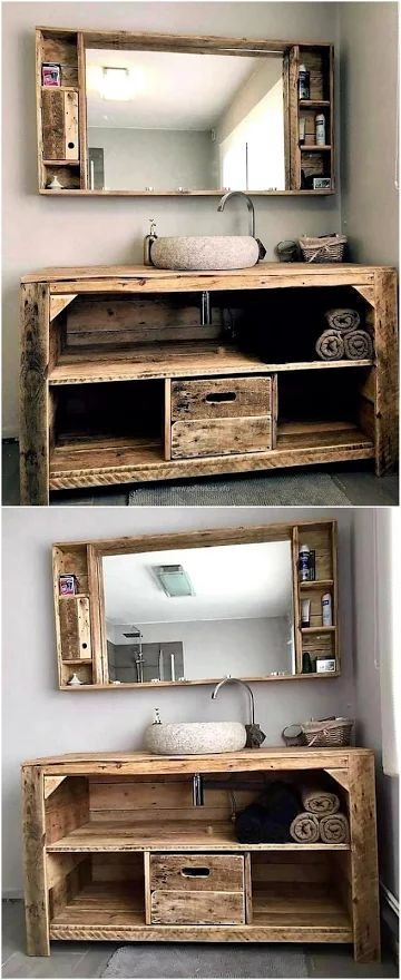 Diy Tv Stand Ideas Wood Pallet Sink And Mirror Diyall Net Home