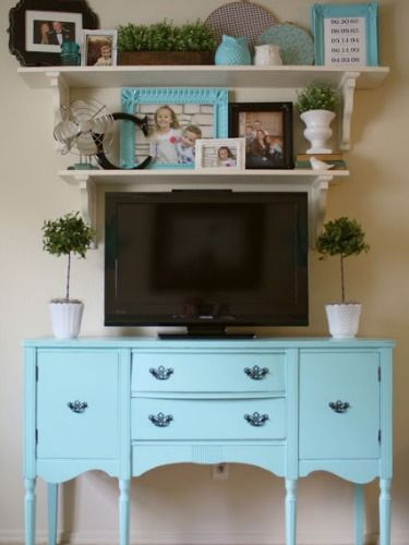 Take the focal point off your TV. Decorate Your TV Wall - Home Decorating Ideas ...