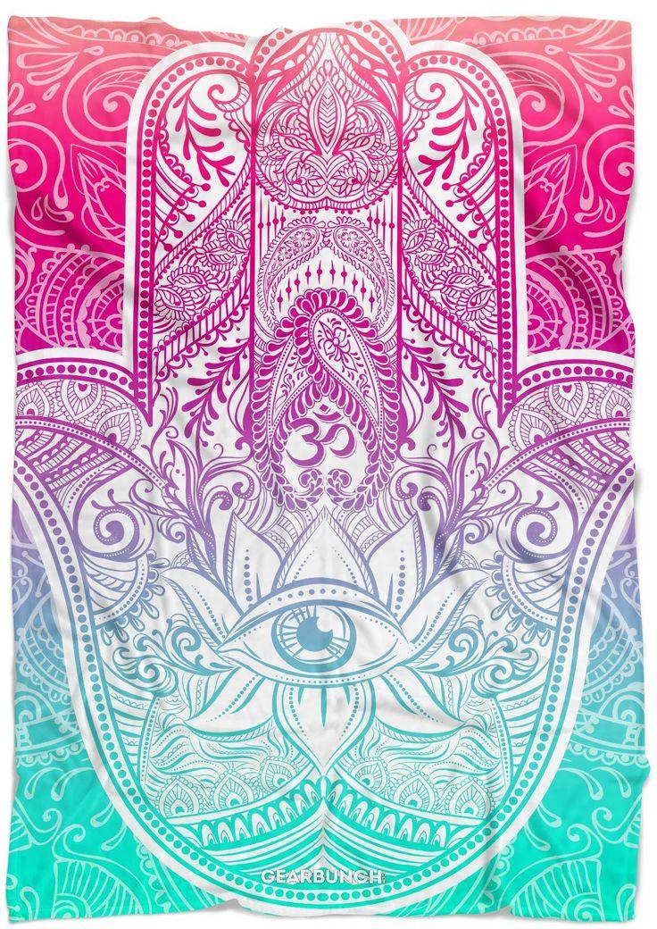 Bright Hamsa Blanket | blanket ideas