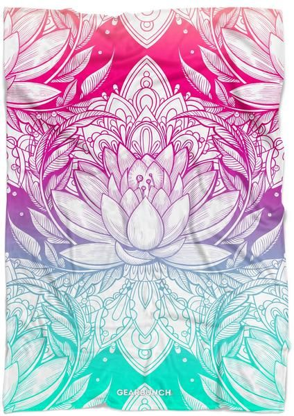 Bright Lotus Blanket | college dorm room decor | dorm room decor diy | boho dorm...