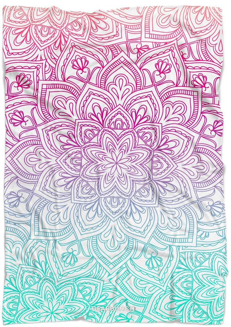 Bright Mandala Blanket | gifts for her
