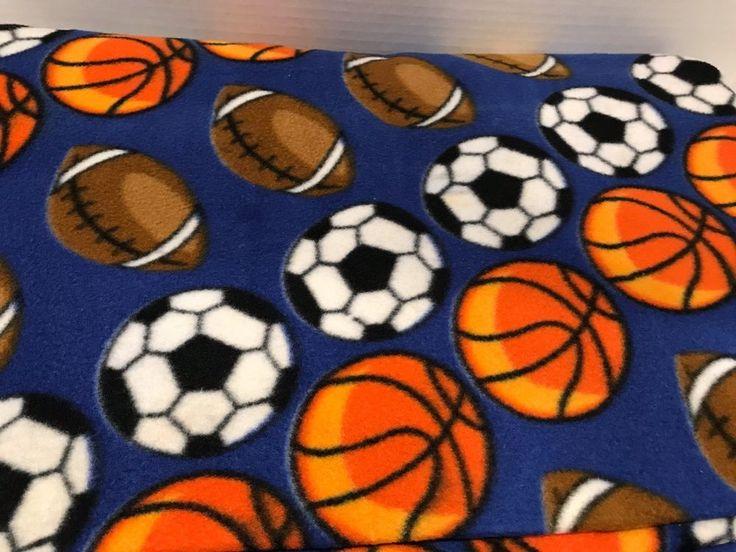 Fleece Fabric Sports Blue 60