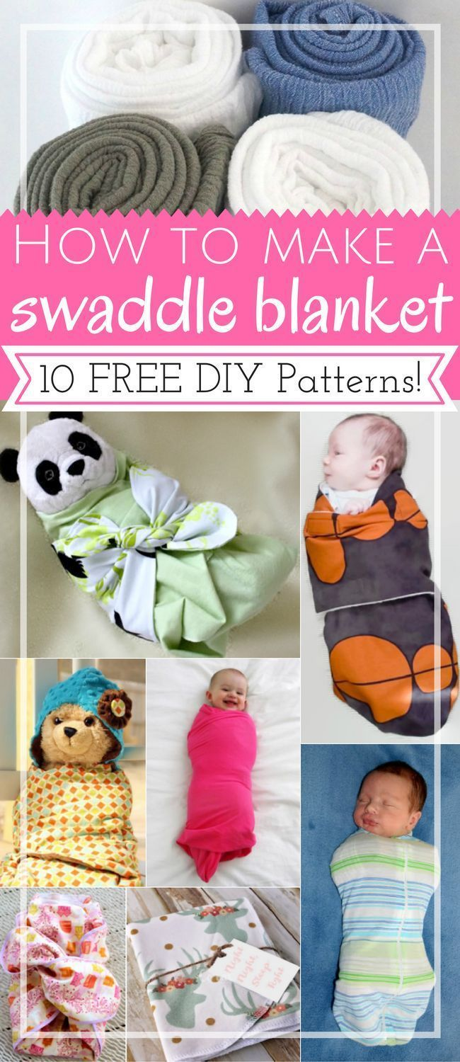 How to Make a swaddle blanket: 10 free DIY patterns | DIY baby | no sew | free p...