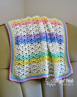 Madilyn Baby Blanket crochet pattern by Danyel Pink - made with RH Anne Geddes B...
